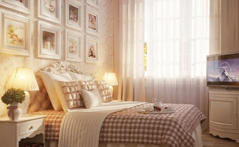 спальня в стиле прованс декор фото