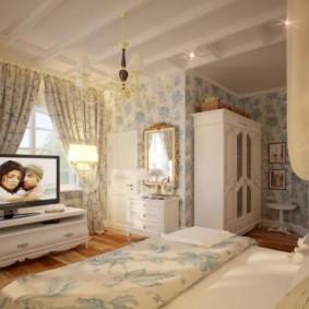 спальня в стиле прованс дизайн