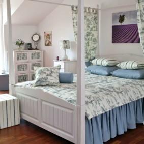 спальня в стиле прованс фото интерьера