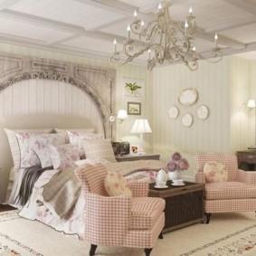 спальня в стиле прованс фото оформление