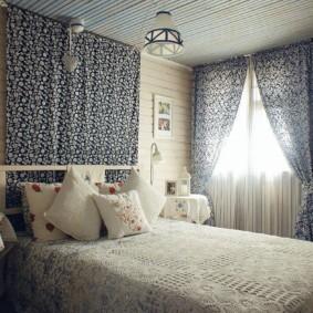 спальня в стиле прованс фото текстиль