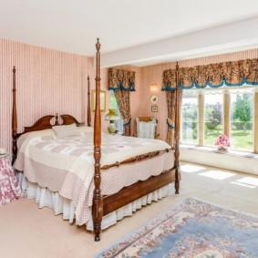 спальня в стиле прованс фото текстиля