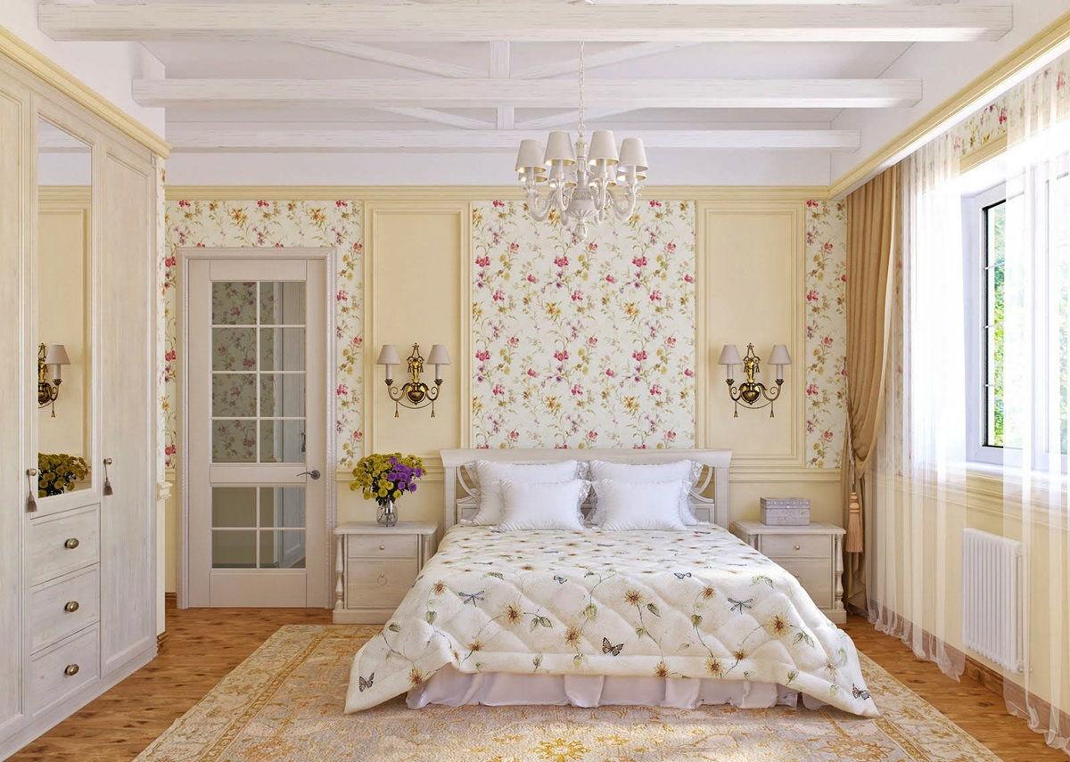 спальня в стиле прованс идеи текстиля