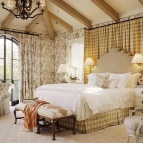 спальня в стиле прованс интерьер дизайн
