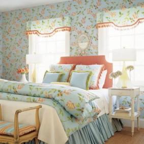 спальня в стиле прованс текстиль идеи