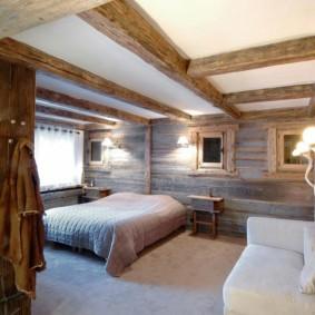 спальня в стиле шале декор идеи