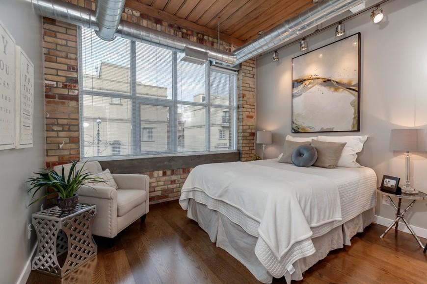 спальня в стиле шале декор