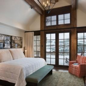 спальня в стиле шале фото декор