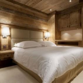 спальня в стиле шале фото декора