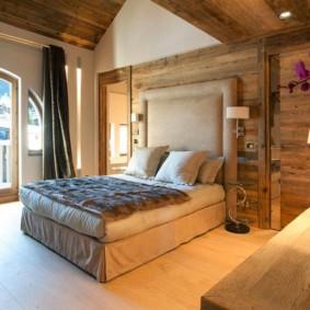 спальня в стиле шале фото дизайн