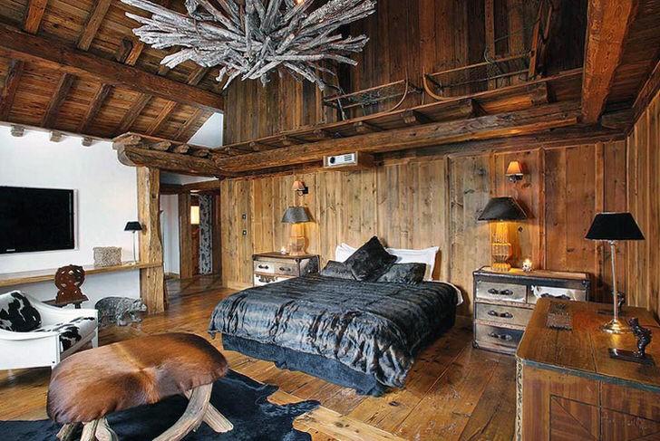 спальня в стиле шале фото дизайна