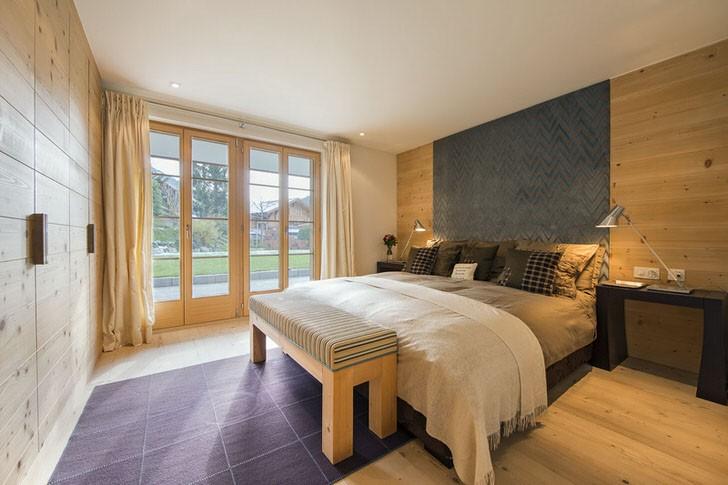 спальня в стиле шале фото интерьер