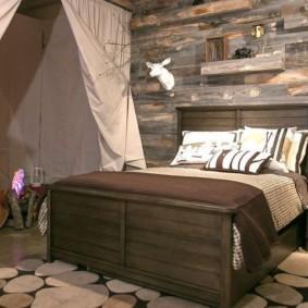 спальня в стиле шале фото оформления