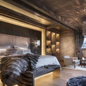 спальня в стиле шале фото вариантов