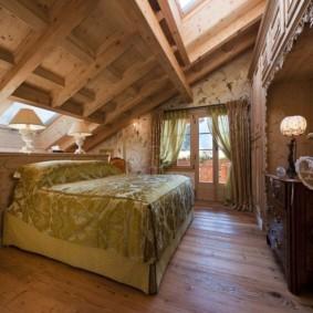 спальня в стиле шале фото варианты