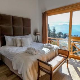 спальня в стиле шале идеи дизайн