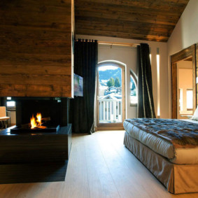 спальня в стиле шале идеи видов