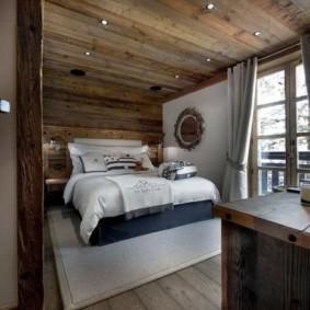 спальня в стиле шале интерьер идеи