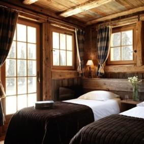 спальня в стиле шале обзор фото