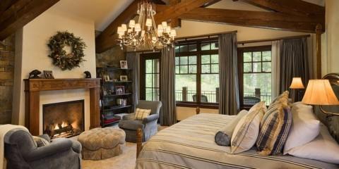 спальня в стиле шале оформление