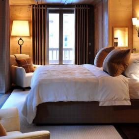 спальня в стиле шале оформление идеи