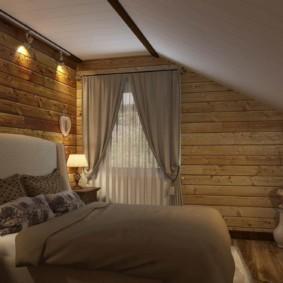 спальня в стиле шале виды