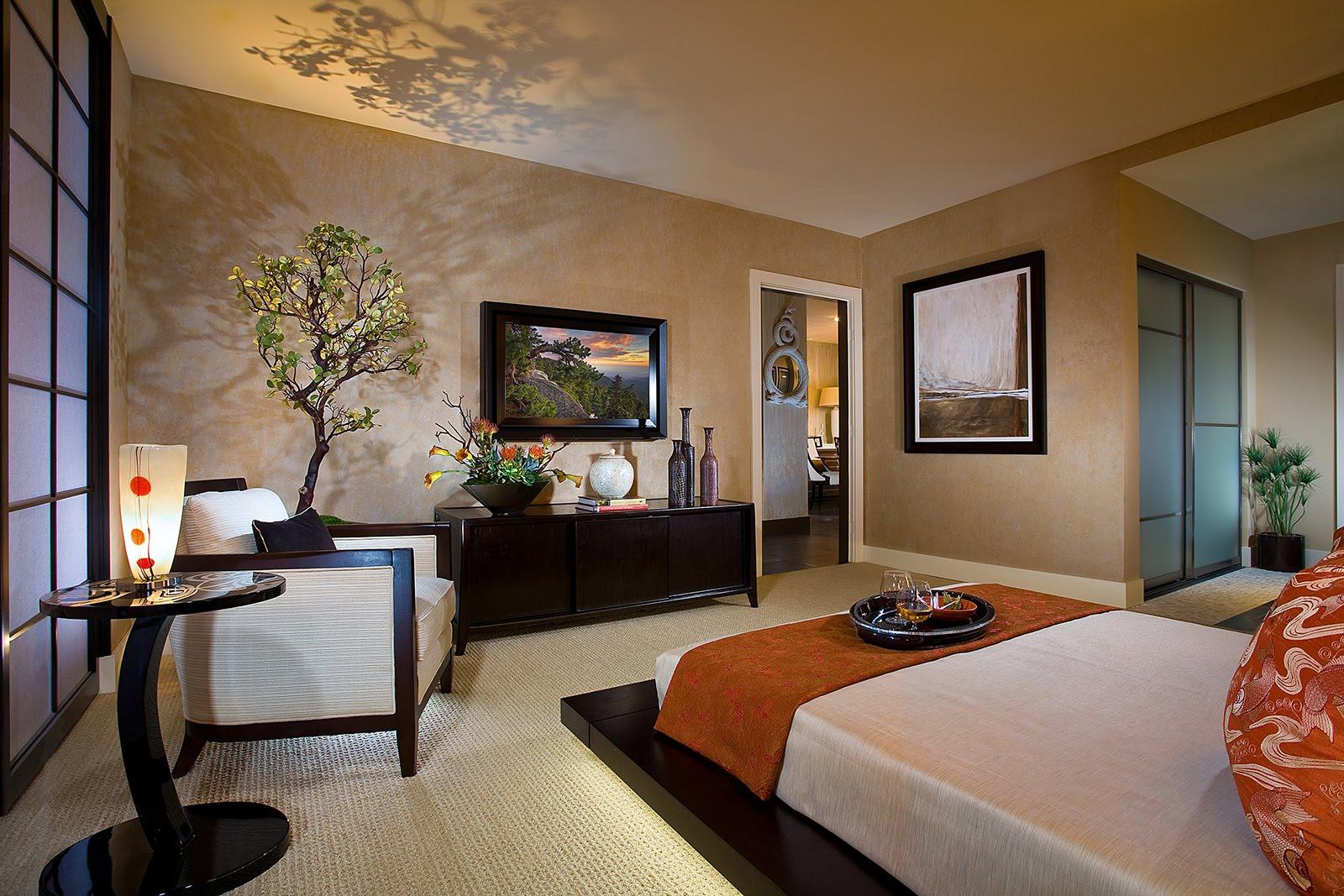 спальня в японском стиле фото декор