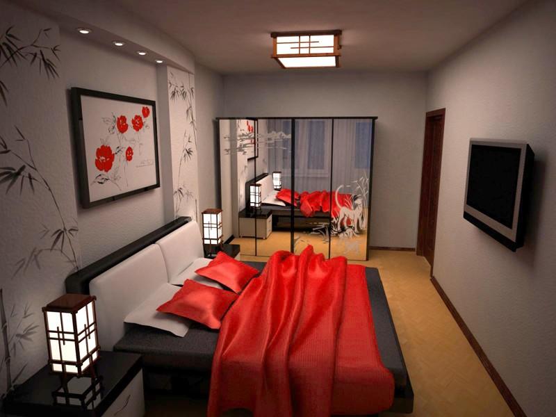 спальня в японском стиле фото декора