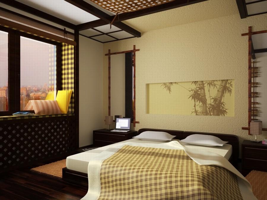 спальня в японском стиле фото дизайна