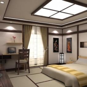 спальня в японском стиле фото оформления
