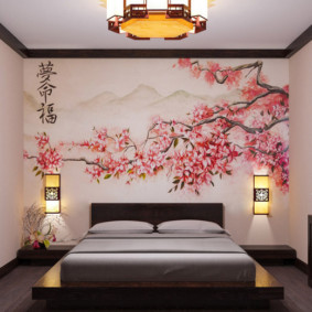 спальня в японском стиле фото видов