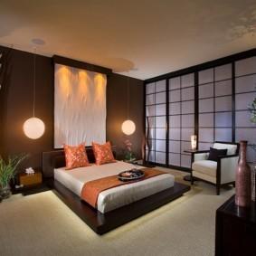 спальня в японском стиле идеи фото