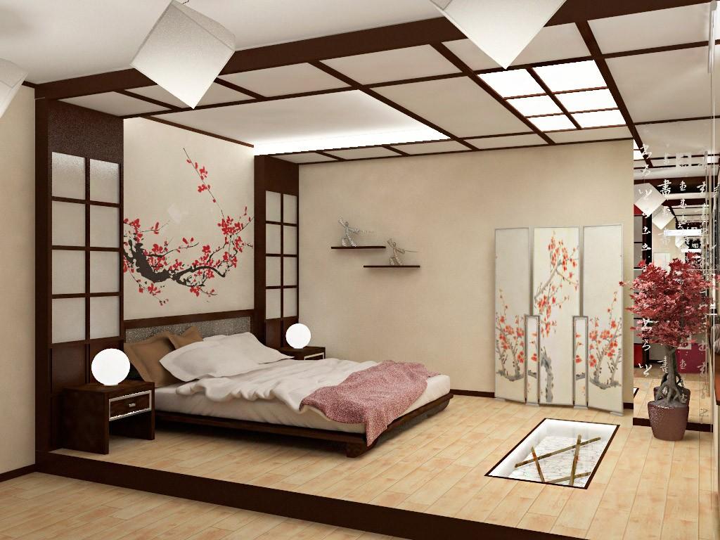 спальня в японском стиле идеи интерьер