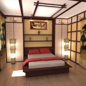 спальня в японском стиле идеи оформления