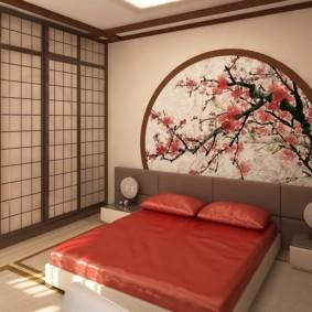 спальня в японском стиле оформление фото