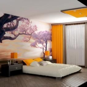 спальня в японском стиле варианты фото