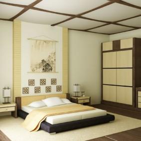 спальня в японском стиле виды фото