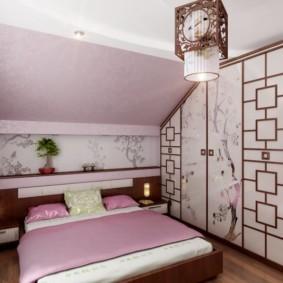 спальня в японском стиле дизайн фото