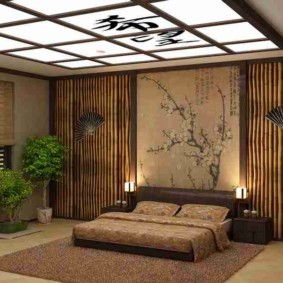 спальня в японском стиле дизайн интерьера
