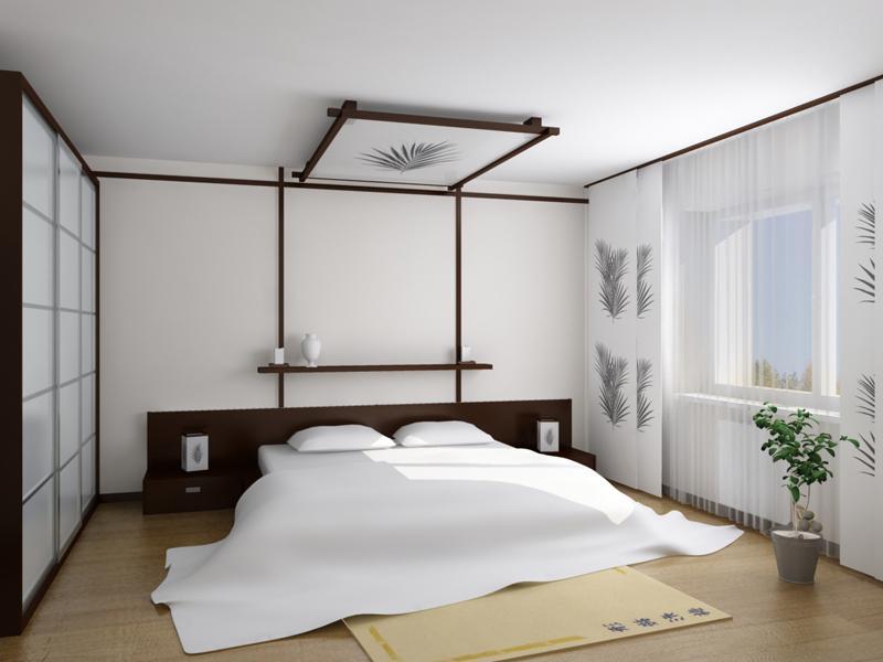 спальня в японском стиле идеи интерьера