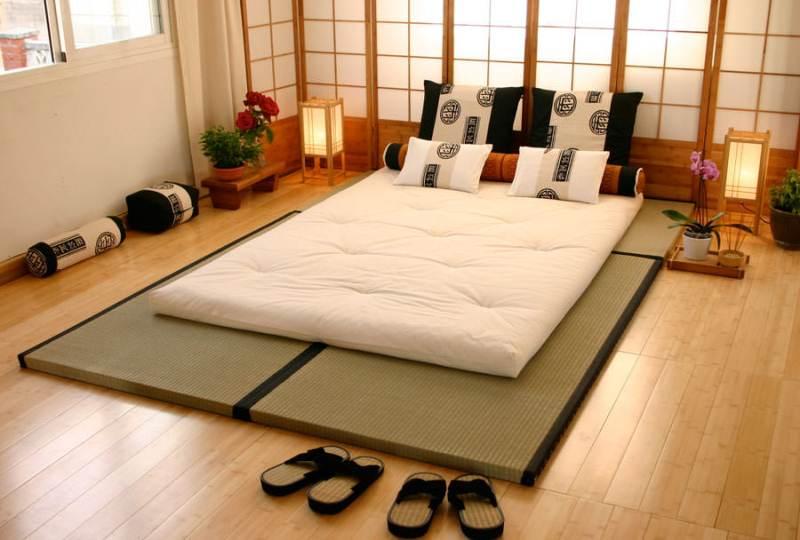 спальня в японском стиле интерьер идеи
