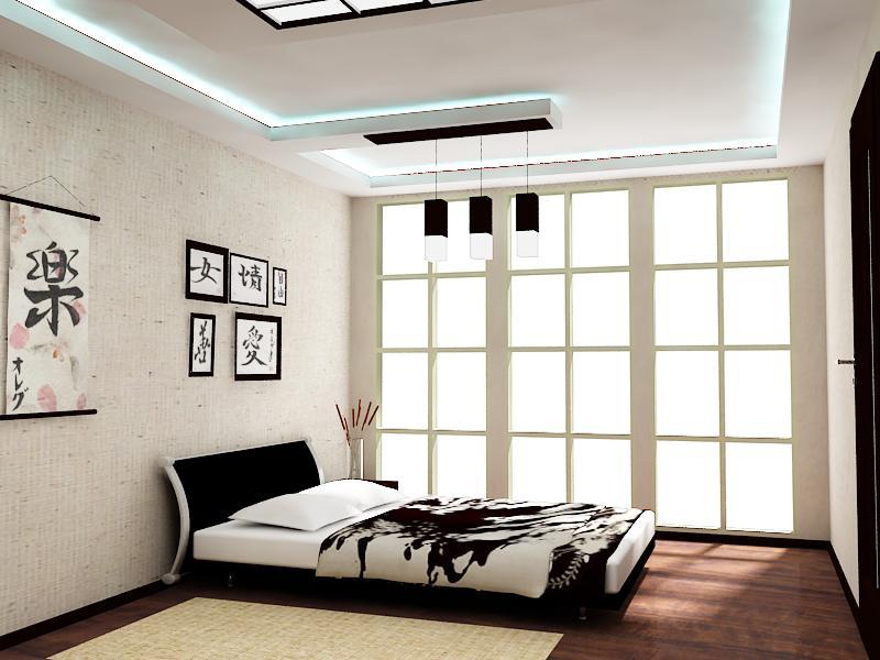 спальня в японском стиле интерьер