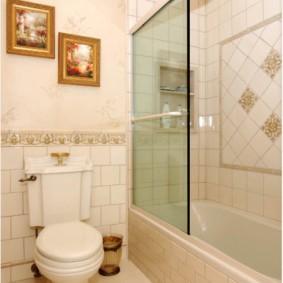 раздвижные шторки для ванной декор фото