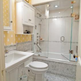 раздвижные шторки для ванной декор идеи