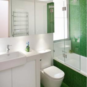 раздвижные шторки для ванной фото декора