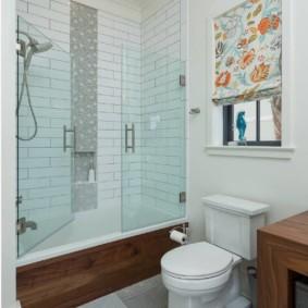 раздвижные шторки для ванной фото интерьер