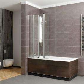 шторка для ванной комнаты из стекла фото оформление