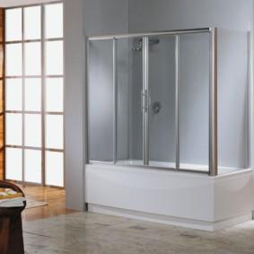 шторка для ванной комнаты из стекла фото вариантов