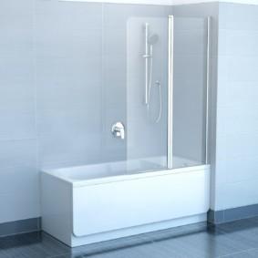 раздвижные шторки для ванной фото виды