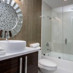 раздвижные шторки для ванной идеи декор